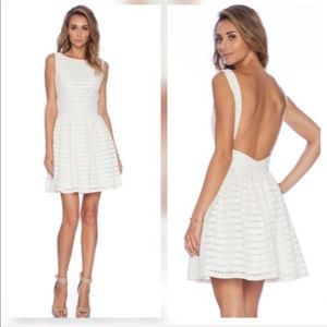 thakoon addition Open Back Fit Dress in Ivory